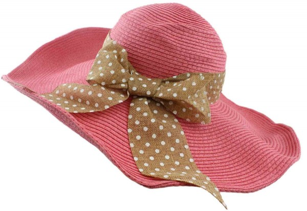 "XXL Beach Hat ""Larissa"" Straw Hat Loop Dots Women"