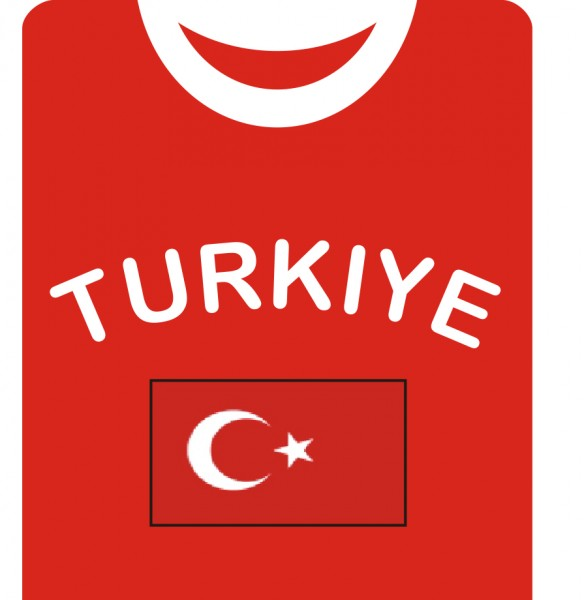 "Fan-Shirt ""Turkiye"" Unisex Fußball WM EM Herren T-Shirt"