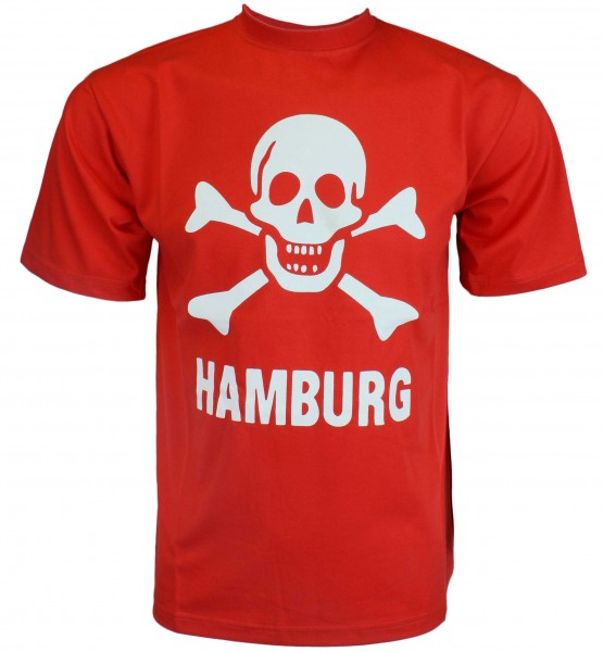 "T-Shirt ""Skull Hamburg"" Reeperbahn Cotton"