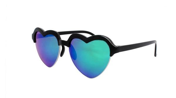 Sonnenbrille Herzchen Verspiegelt JGA Herz Party Fasching