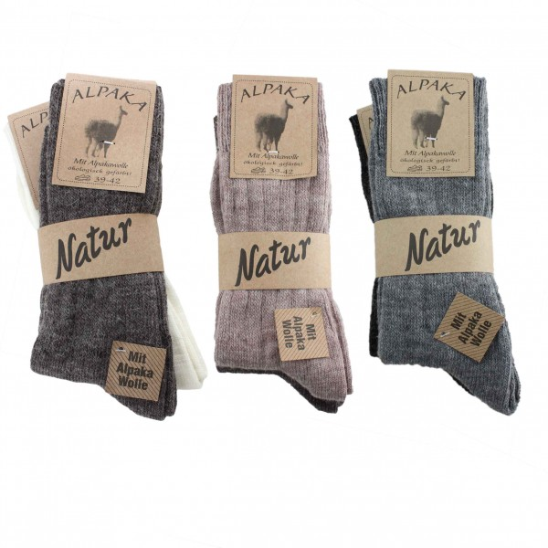 "Assortment 60 Pairs Alpaca Socks ""Thin"" Sheep Wool Winter"