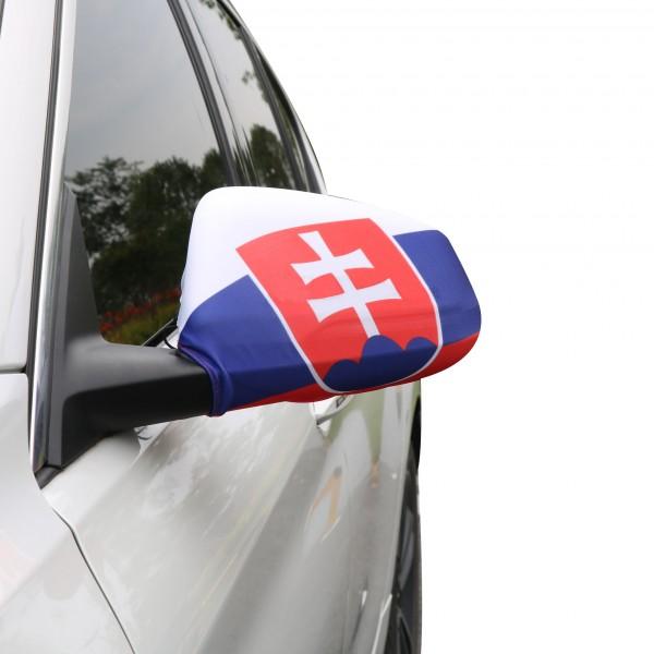 """Auto Außenspiegel Fahne Set """"Slowakei"""" Slovakia Bikini Flagge EM WM"""