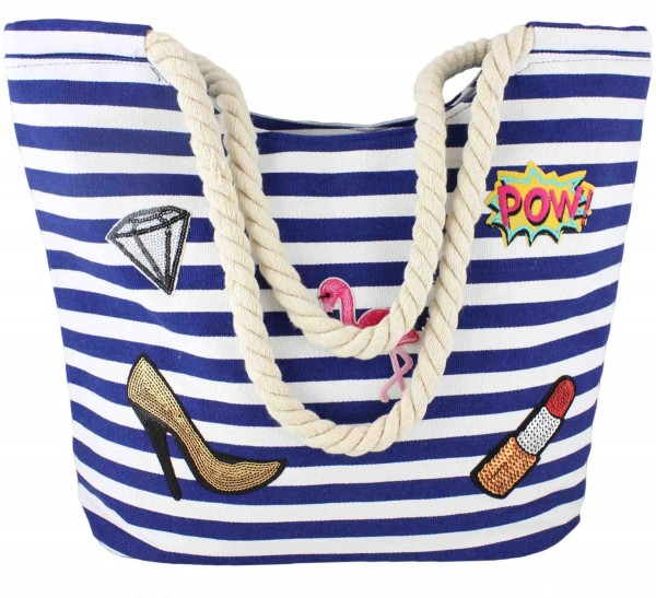"Patch Shopper ""Flamingo"" Tasche Tragetasche Bag"