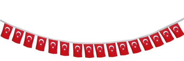 """Fahnenkette """"Türkei"""" Fußball EM Girlande 16 Fähnchen 4,5m Deko"""