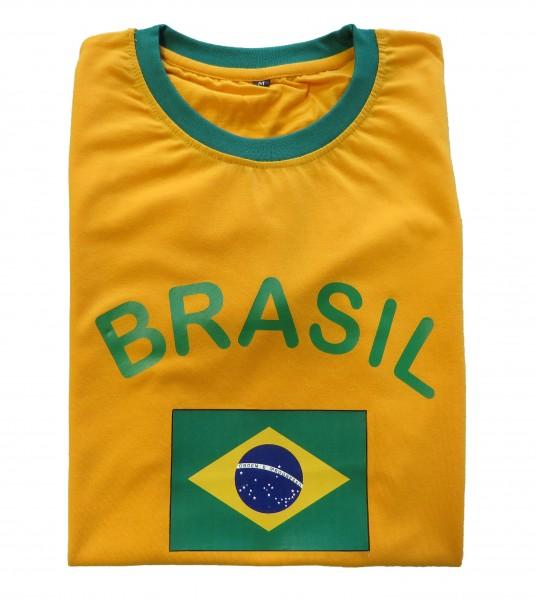 """Fan-Shirt """"Brasil"""" Unisex Football Worldcup T-Shirt Men"""