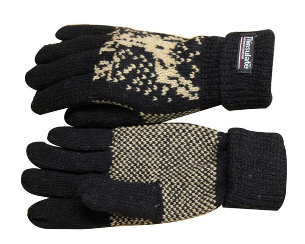 Knitted Gloves Wool Fleece Winter Unisex