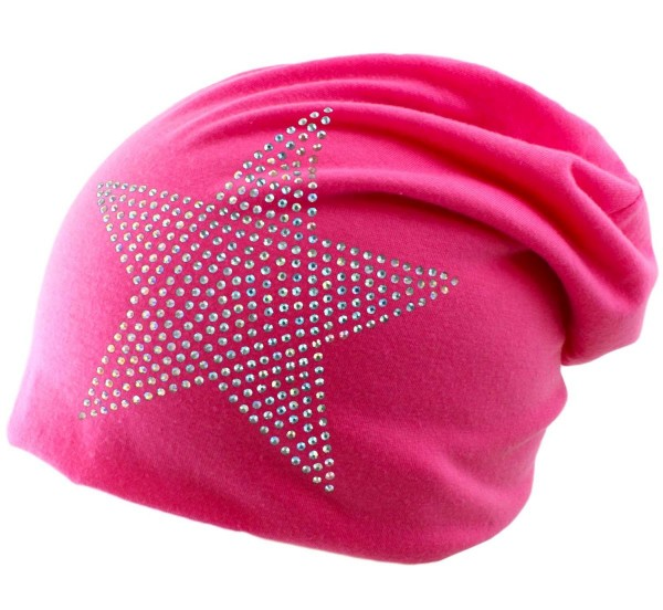 "Beanie Slouch ""Prisma Star"" Rhinestones Hat"