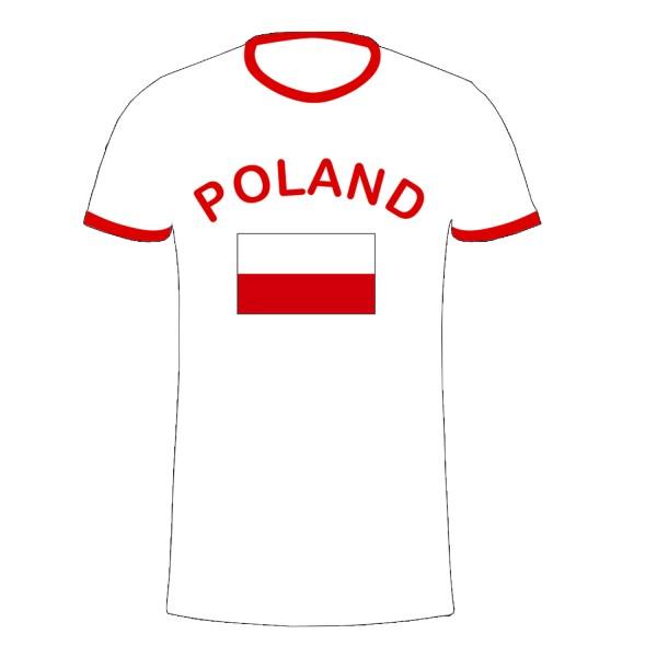"""Fan-Shirt """"Polska"""" Unisex Fußball WM EM Herren T-Shirt"""