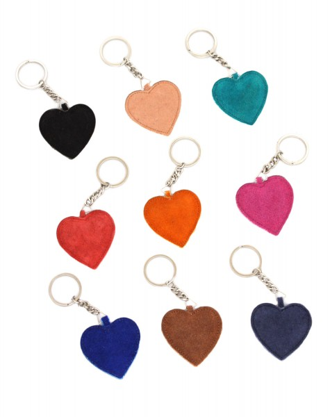 """Key Chain """"Heart"""" Keyring Leather"""