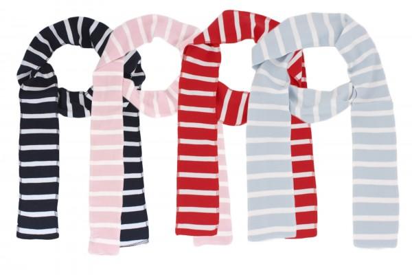 Assortment: 10 pcs Scarf Long Maritime Stripes Cotton Summer