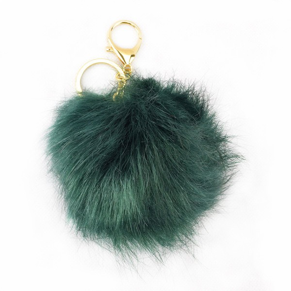 Keychain Bubble Key Ring Faux fur