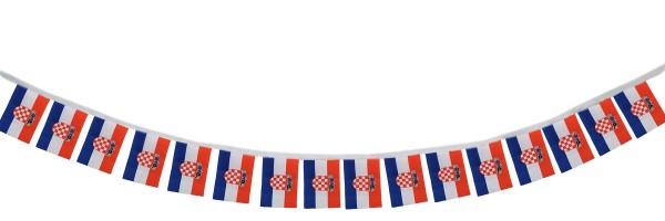 """Fahnenkette """"Kroatien"""" Fußball EM Girlande 16 Fähnchen 4,5m Deko"""