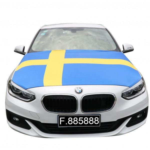"""EM Fußball """"Schweden"""" Motorhauben Überzieher Auto Flagge"""