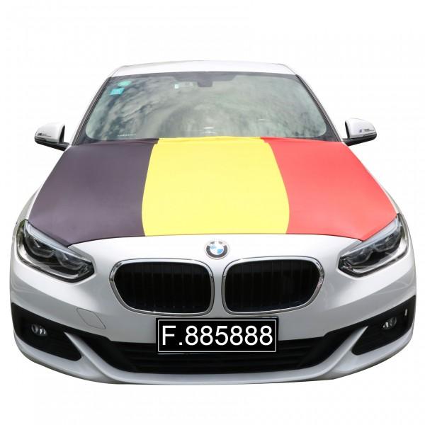 "EM Fußball ""Belgien"" Motorhauben Überzieher Auto Flagge"