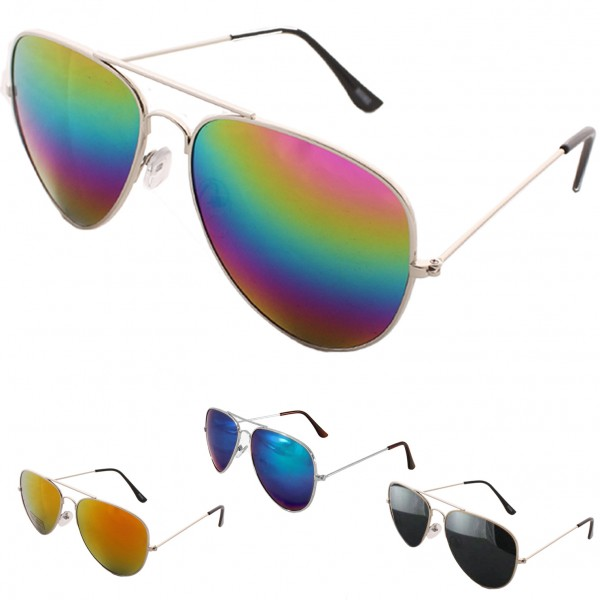 Sale: 12 Sun Glasses Pilot Mirrored Party Fun