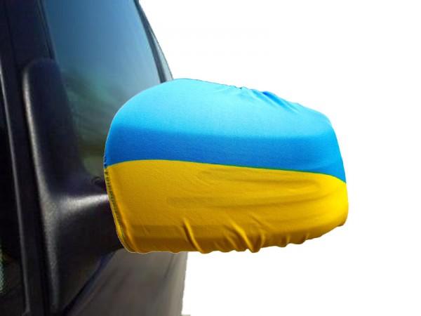 "Auto Außenspiegel Fahne Set ""Ukraine"" Bikini Flagge EM WM"
