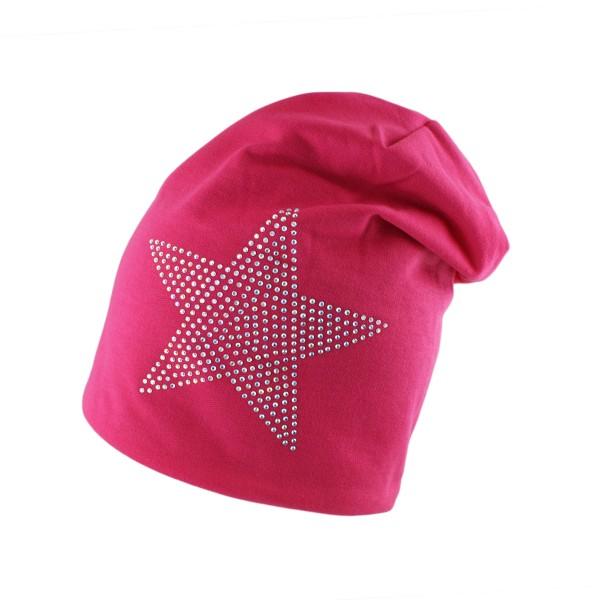 "Fleece Beanie ""Star Rhinestones"" Winter Cap Unisex Jersey"