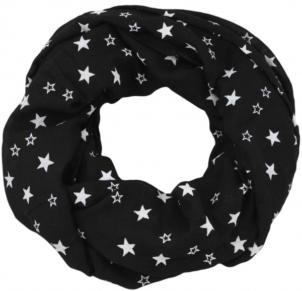 "Loop Schal ""Sterne"" Reliefdruck Stars Sommer"