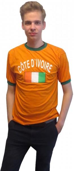 """Fan-Shirt """"Côte d'voire"""" Unisex Fußball WM EM Herren T-Shirt"""
