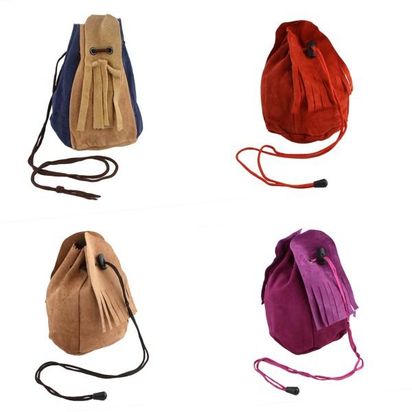 Assortment: 30 pieces Leather purse tobacco pouch bag leaher pocket large