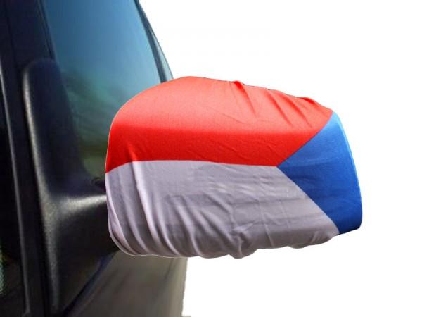 "Auto Außenspiegel Fahne Set ""Tschechien"" Czech Republic Bikini Flagge EM WM"