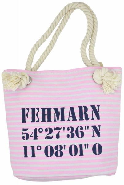 "XS Shopper ""Fehmarn"" Shopper Tasche Koordinaten"