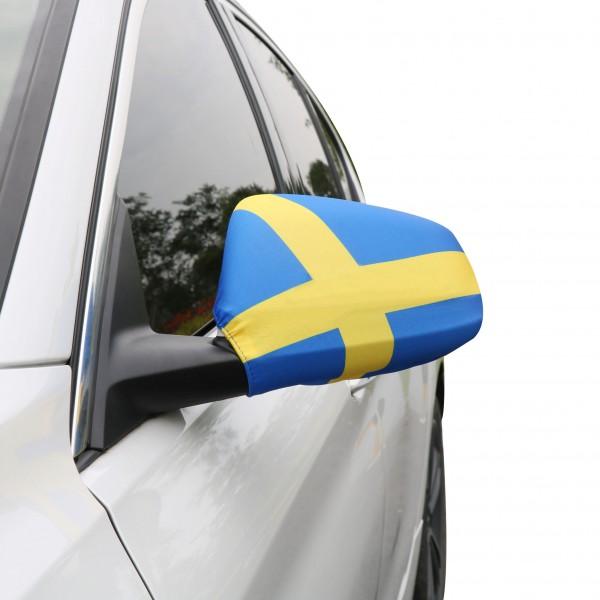 """Auto Außenspiegel Fahne Set """"Schweden"""" Sweden Bikini Flagge EM WM"""