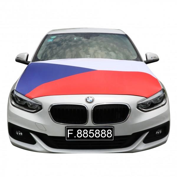 """EM Fußball """"Tschechien"""" Motorhauben Überzieher Auto Flagge"""