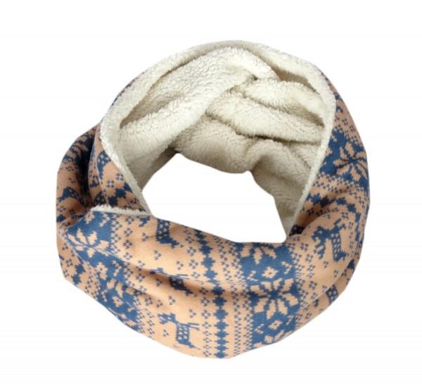 """Loop """"Norway"""" Scarf Teddy Fur Polyester Winter"""