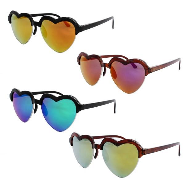 Sale: 12 Sun Glasses Heart Mirrored Fun Stag Party