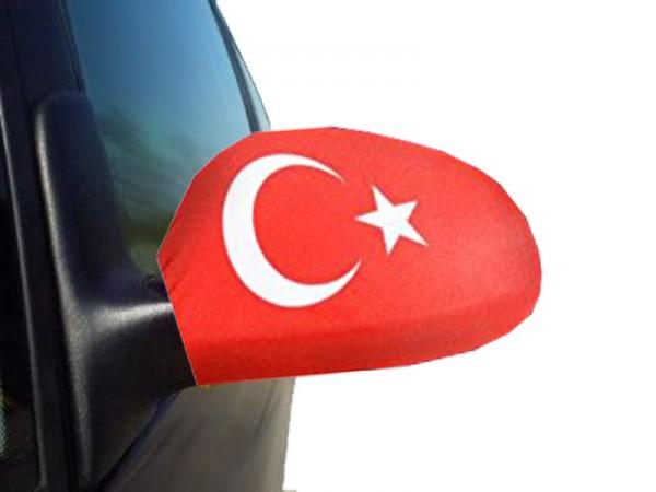 """Auto Außenspiegel Fahne Set """"Türkei"""" Turkey Türkiye Bikini Flagge EM WM"""