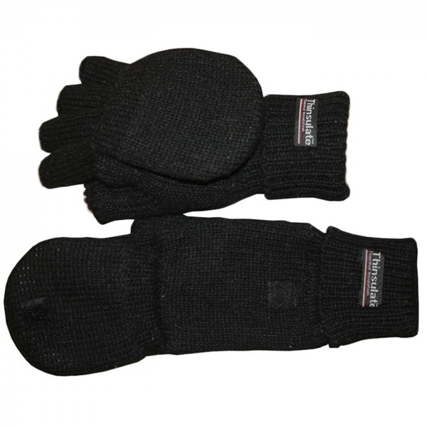 Knitted Gloves Halffinger Wool Fleece Mitten Winter