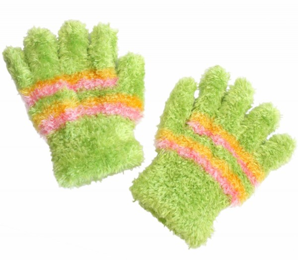 12 Pieces Kids Adults Gloves Stripes Fluffy