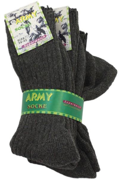 """3 Pairs Wool Socks """"Army Look"""" Unisex grau"""
