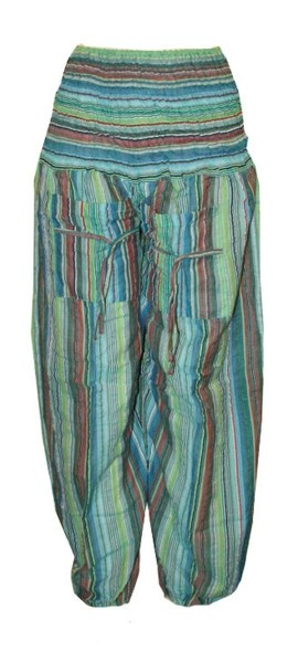 Bloomers Pockets Baggy Pants Stripes Stretch