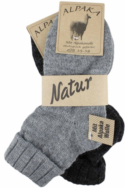 "2 Pairs Alpaca Socks ""Thin"" Sheeop Wool Winter"