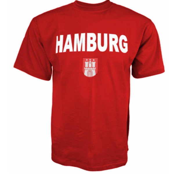 "Kids T-Shirt ""Hamburg"" Classic Emblem Cotton"
