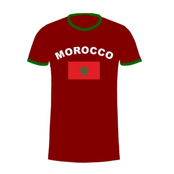 "Fan-Shirt ""Marocco"" Unisex Football Worldcup T-Shirt Men"
