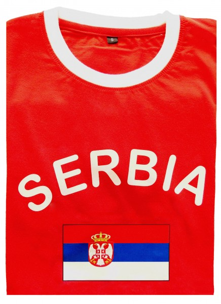 "Fan-Shirt ""Serbia"" Unisex Football Worldcup T-Shirt Men"