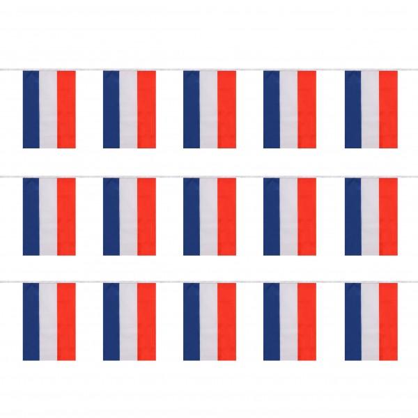 """Fahnenkette """"Niederlande"""" Netherlands Holland Fußball EM Girlande 16 Fähnchen 4,5m Deko"""