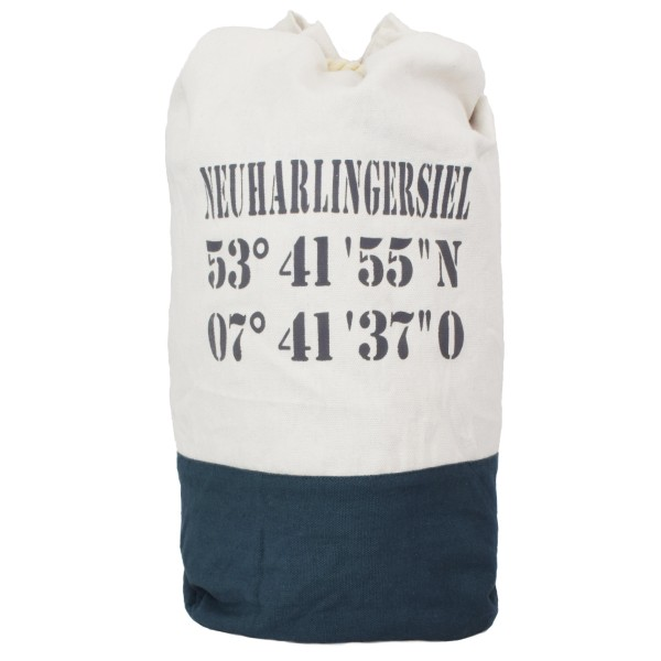 "XL Sea Bag ""Neuharlingersiel"" Maritime Navy Backpack"