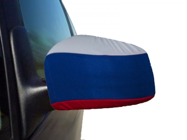 "Auto Außenspiegel Fahne Set ""Russland"" Russia Bikini Flagge EM WM"