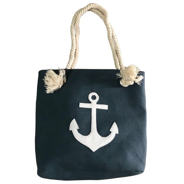 """XS Beach bag """"Anchor Patch"""" girls shopper maritime"""