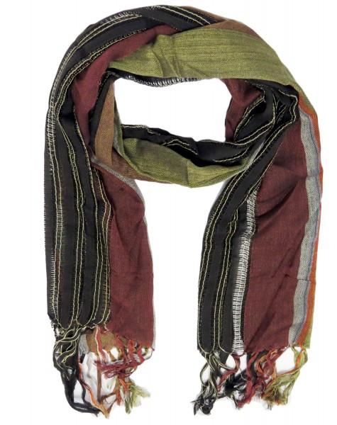 Schal Langschal Streifen Fransen Tuch