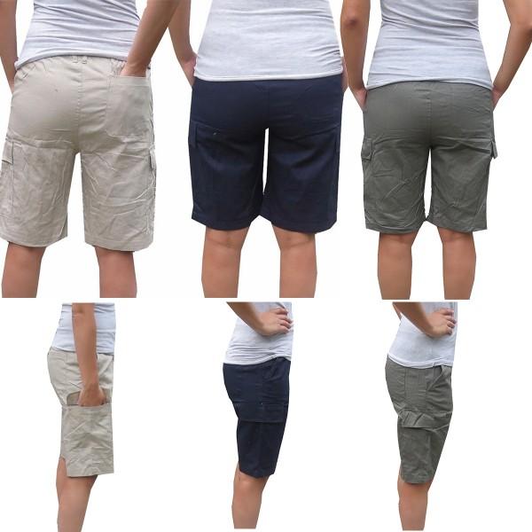 Assortment: 30 pieces Cargo Pants Gents Shorts Unicolor