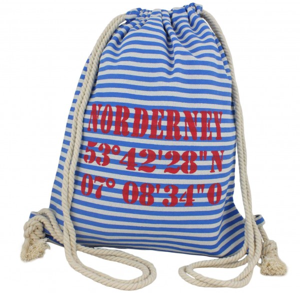 "City Rucksack ""Norderney"" Tasche Bag Backpack Maritim"