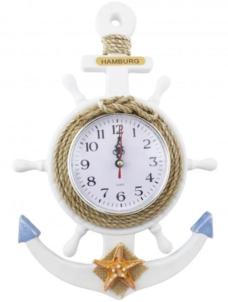 Seemannsuhr Küste Steurrad Uhr Schiffsuhr Anker