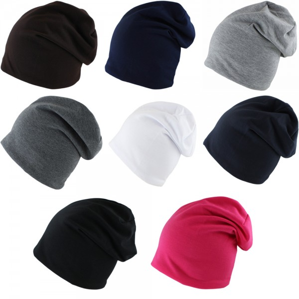 "Assortment: 50 pcs Fleece Beanie ""Uni"" Cap Cotton Unisex Winter Jersey"