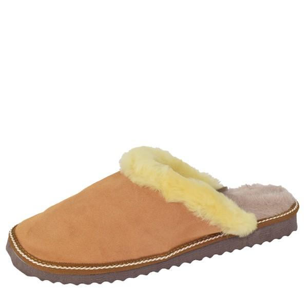 """Women Slipper """"Deluxe"""" Real Leather Lambfur Lining Sole"""