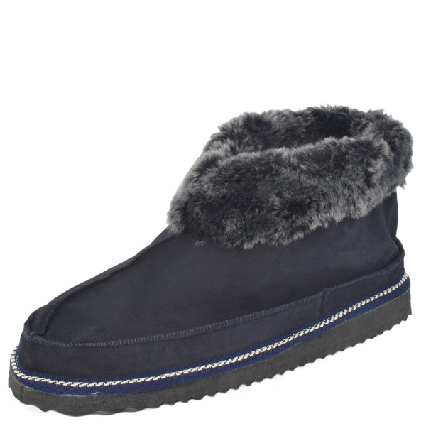 "Indoor Slipper ""Ice Bear"" Real Sheep Skin Genuine Leather Lamb Fur Sole"